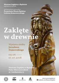 plakat z informacjami o wystawie